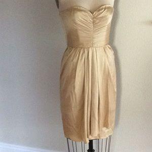 Gold ANNE KLEIN strapless dress
